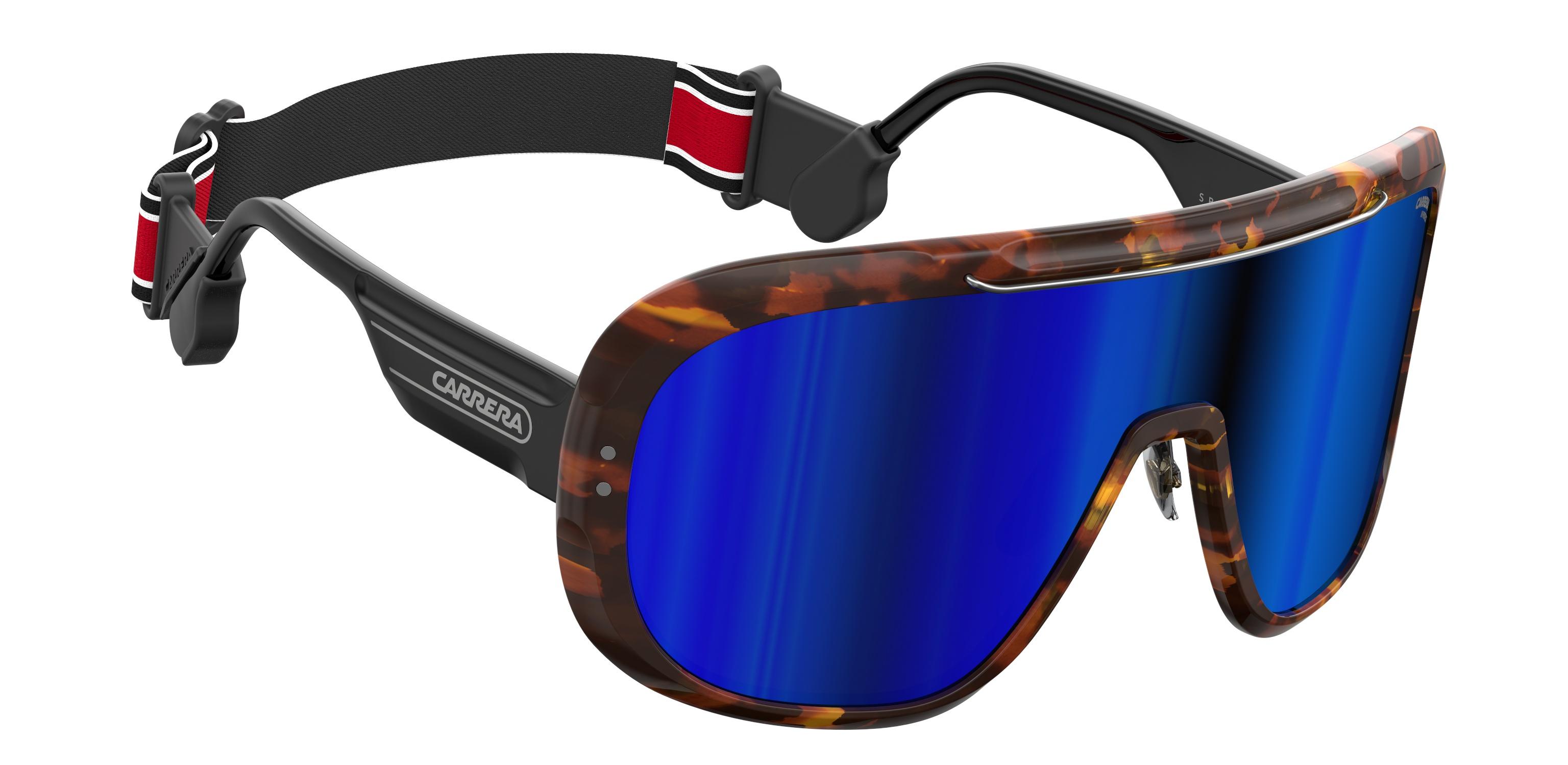 Carrera Epica Special Edition Blonde Havana Oversize Shield Sunglasses 0SCL CU